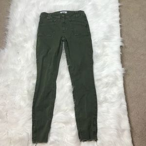 Paige Hoxton Ankle Green Jeans